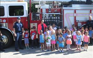 Visit from our local heroes to celebrate Safety Week!