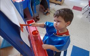 Our Discovery Preschool allows children to be creative by encouraging open ended art.