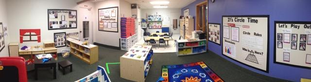 This is Discovery Preschool (also called Toddler B).  Here is where the older toddlers play all day: 2 years to 3 years.
