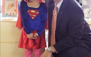 On our Super-Hero day we had a great guest come by and visit Mayor of Gulfport Billy Hewes!