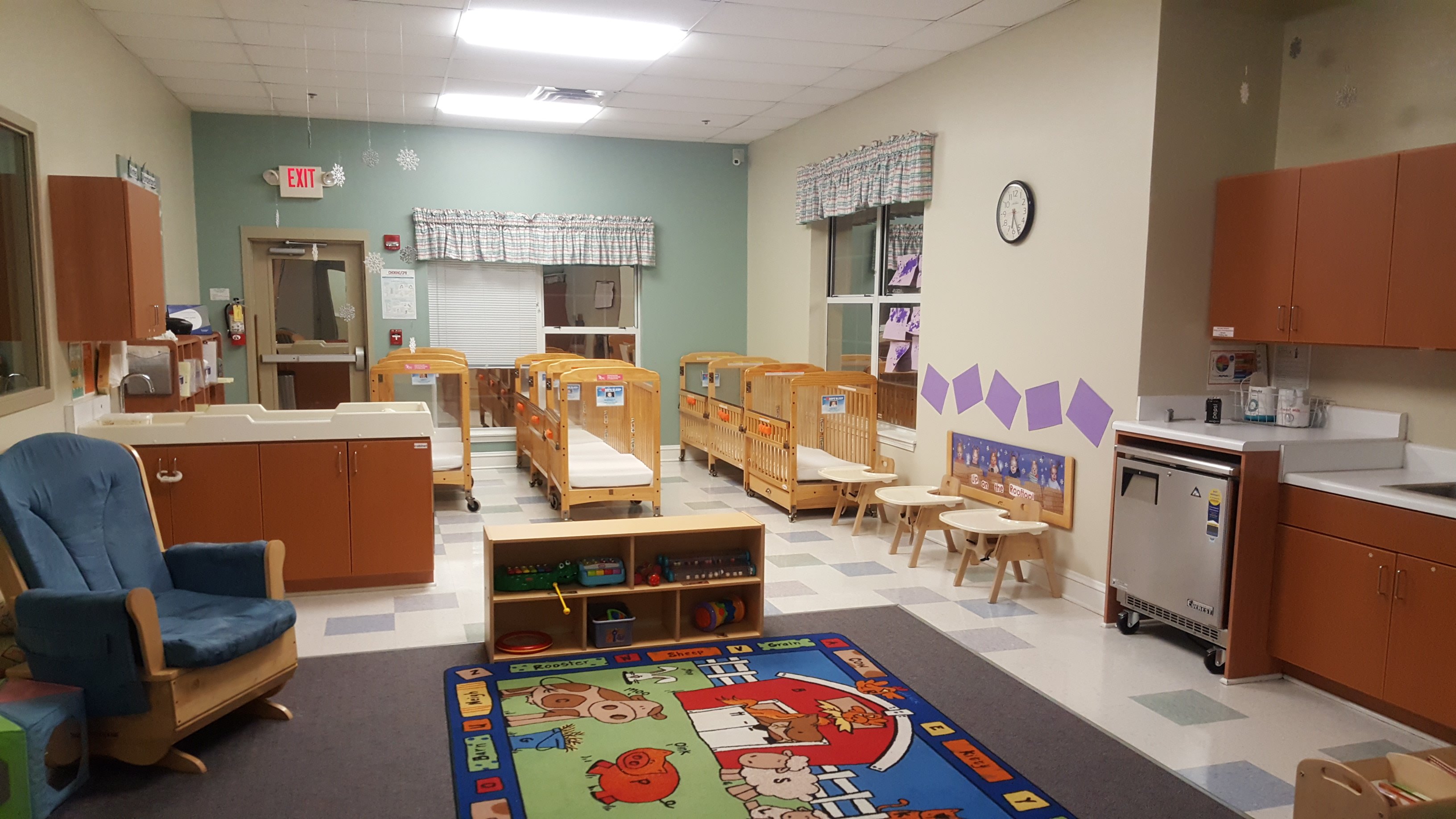 This is our Infant B classroom for younger infants.