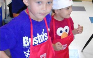 Our Cooking Adventures class is more than just fun.  Children also learn about foods from other cultures, vocabulary, fine motor skills, eye/hand coordination, self - confidence, social skills and how eating healthy can be so easy.