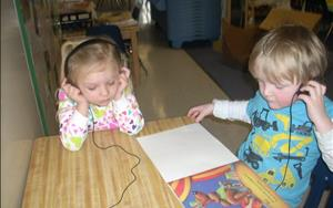 The listening center is designed to create a fun atmosphere for literature exposure!
