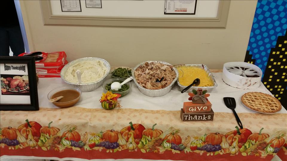 Our Thanksgiving luncheon