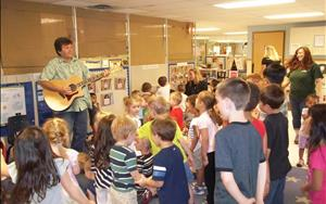 Mr. Steve the Musician performs at our center