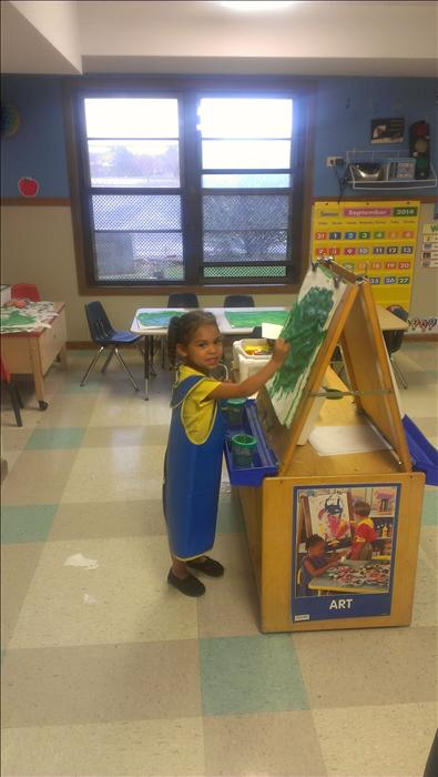 Preschool Classroom - Painting her world