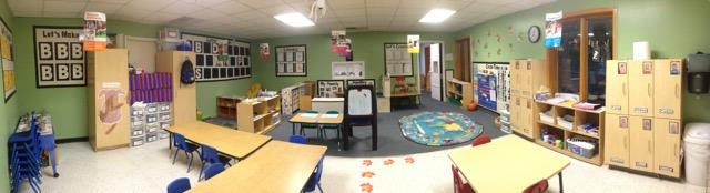 This is our Preschool room.  Here is where our 3-4 year olds spend their time.