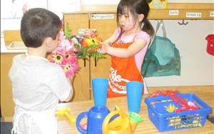 Gardening in Dramatic Play
