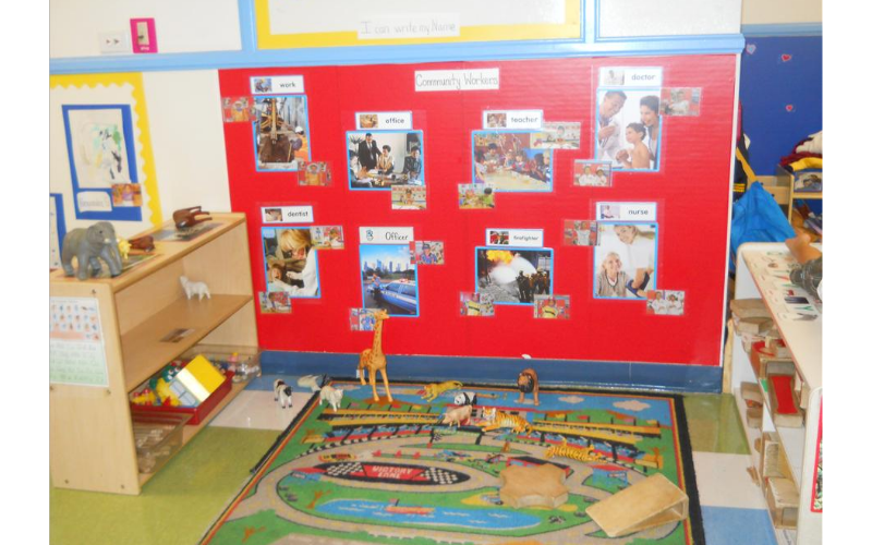 Preschool Blocks Center: We provide activities that encourage exploration and discovery.