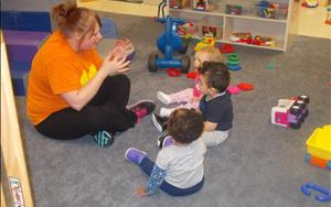 A fun part of a toddler's day is songs and fingerplays!