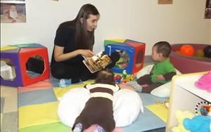 Throughout the day, our Infants enjoy reading, singing songs, and playing with their friends and teachers!