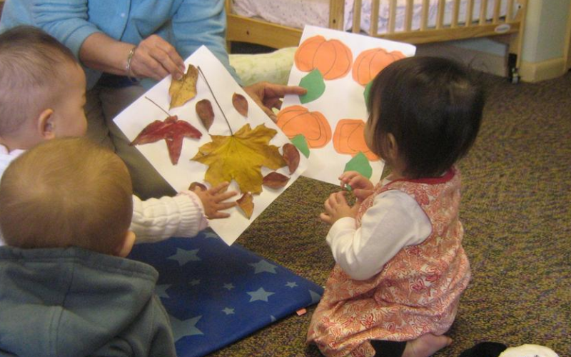 Learning about fall at KinderCare