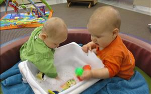 Wet and Messy activities are designed for infants to explore different textures and express emotions through sounds, movements, and facial expressions.