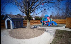 Our playgrounds are fenced in all the way around to provide Safety and privacy for your children.