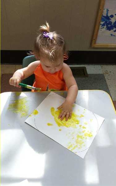 Our toddlers love to get messy and paint!