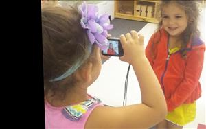 The Prekindergarten children were able to take pictures of their friends around the classroom!
