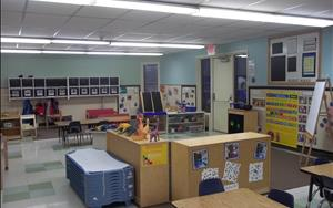 The Pre-Kindergarten room is a learning environment designed to prepare children for Kindergarten.  We emphasize skills that will help them get ready for school.