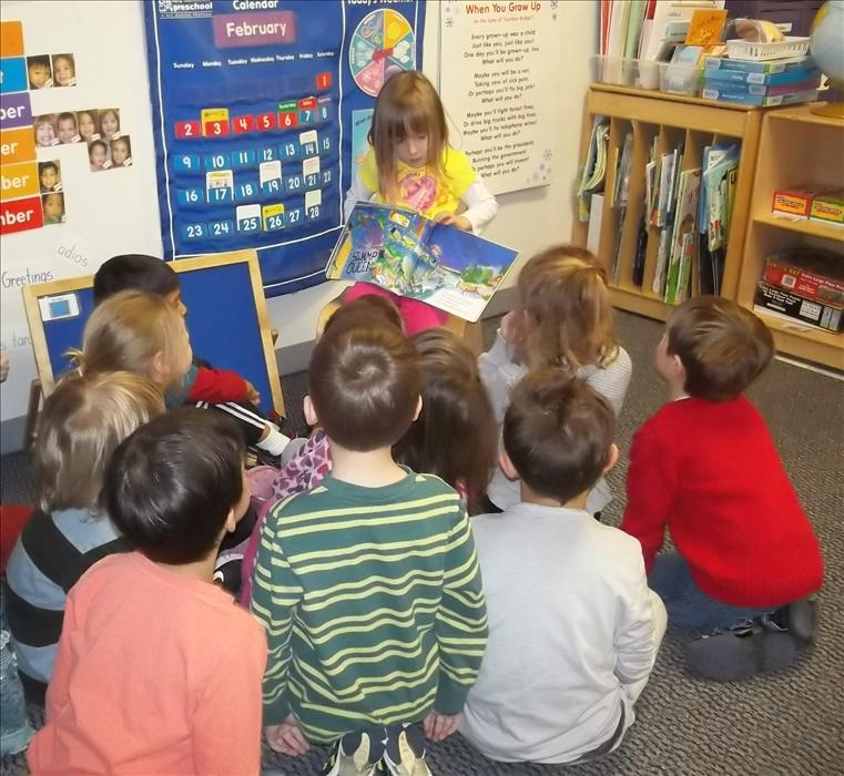 Our PreKindergarten children are encouraged to assist the teacher during their circle time and story time