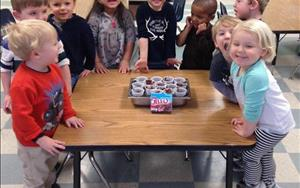 The class couldn't wait to try the pudding they made for snack!
