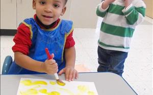 Painting in Toddlers.