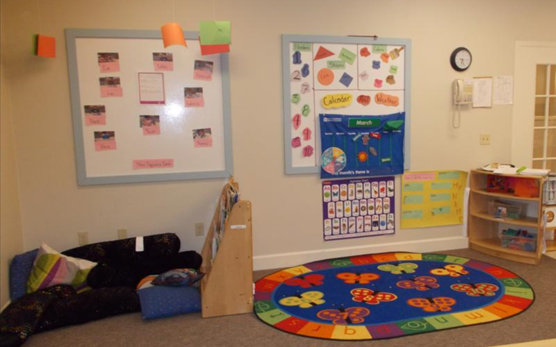 This is also the classroom where we start to work on circle time, calendar and larger group activities.