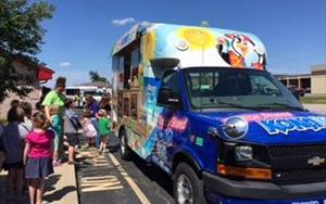 We have Kona Ice come to our center every other Friday during the summer to treat all of our kiddos and staff