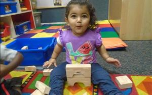 Our Toddlers love building with blocks!