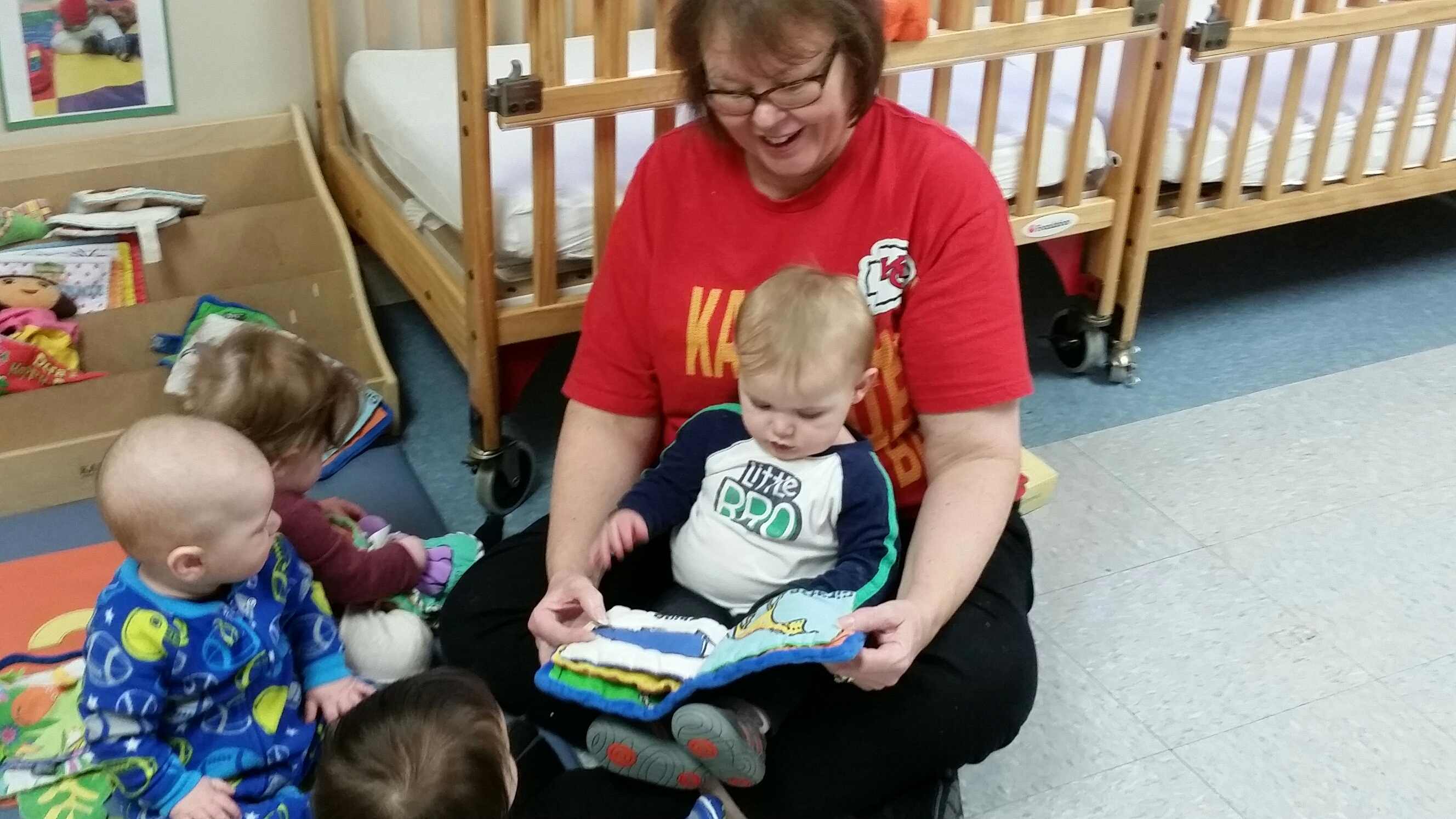 In the Infant Classroom, we practice our emerging reading skills.