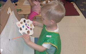 Exploration is the best way to learn.  Our two year olds are encouraged to try new things and practice their independence.
