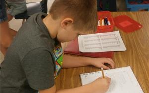 Our before and after school program focuses on homework time each afternoon.