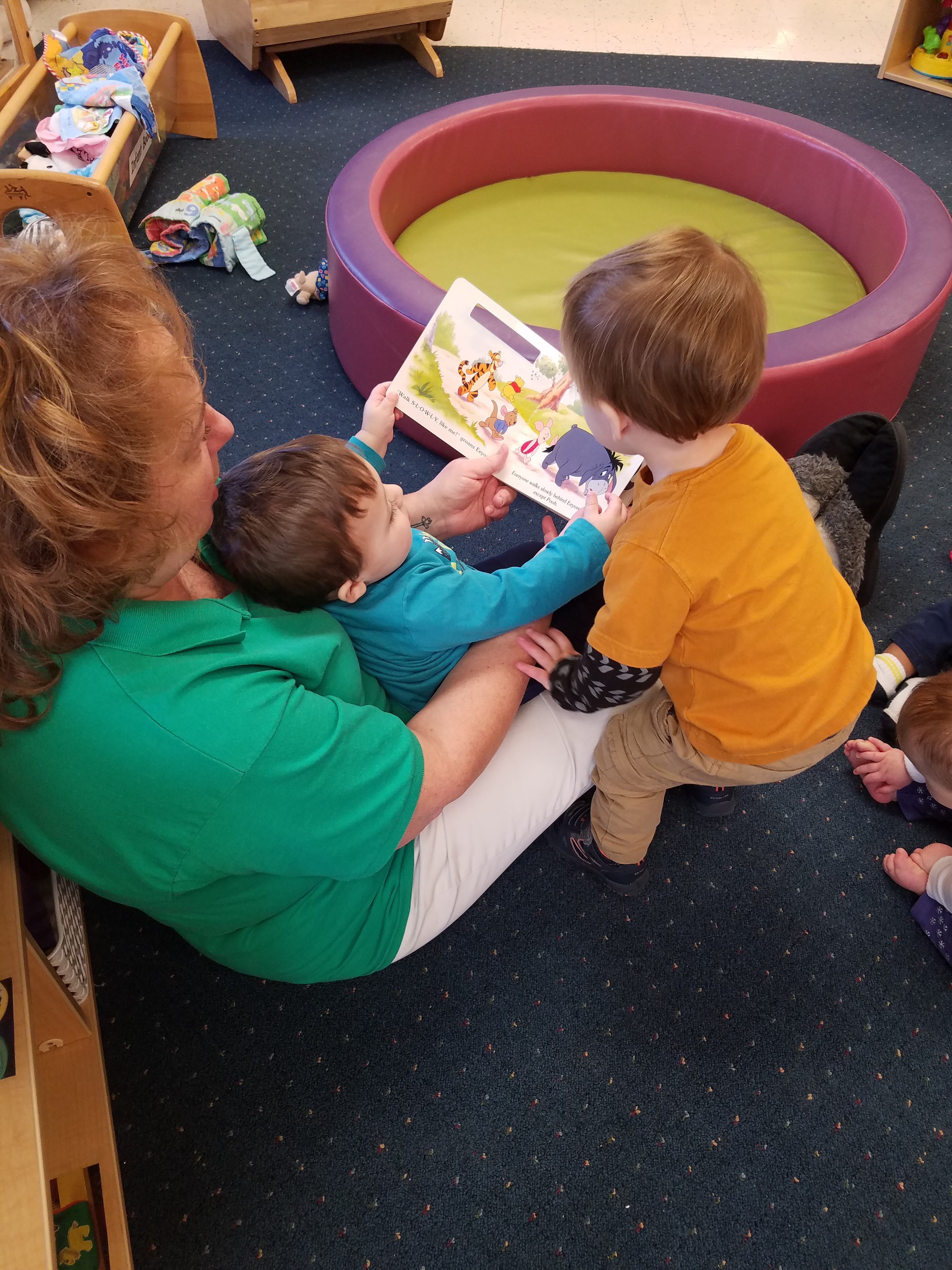 We build a foundation for early literacy in our Infant classroom.