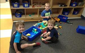 The Preschoolers explore in the block area by using their imagination and different materials to express their creativity and real life experiences.
