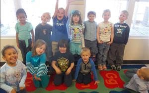 Students from our Prekindergarten A classroom showed their support for Autism Awareness Day in April!
