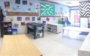 This is our schoolage room. We are happy to provide before and after care during the school year. In the summer we offer all day care with lots of in house events and field trips. Miss Cierra always tries to find out what activities the schoolagers like to make this is a great experience for them.