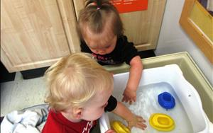 Children learn so much through sensory exploration between the ages of birth and three years old. That's why our curriculum provides ample opportunities for children to explore their world through sensory play.