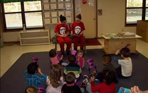 Thing 1 and Thing 2 came to visit us to celebrate Dr. Seuss's Birthday during our community event!
