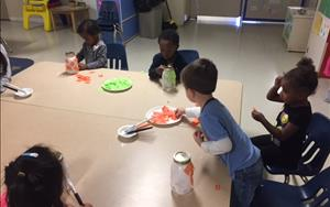 Our Halloween Art Camp Making Mason Jar Candle Holders