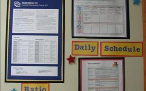 A Parent Communication Board is found outside each classroom where parents can find information about their child's curriculum.  What s/he will be learning during the current week and what lesson plans the teachers have prepared to enhance the curriculum provided to them from the leading early childhood educators in the field.