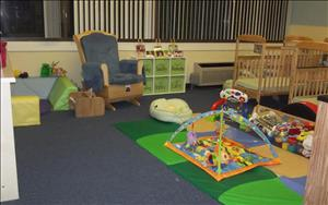 In the infant room, the children engage in activities such as using their five senses to explore the world all around him or her.  The learn to copy the simple actions of others, experiment with toy instruments, explore different textures, colors, and sounds, as well as develop memory skills.