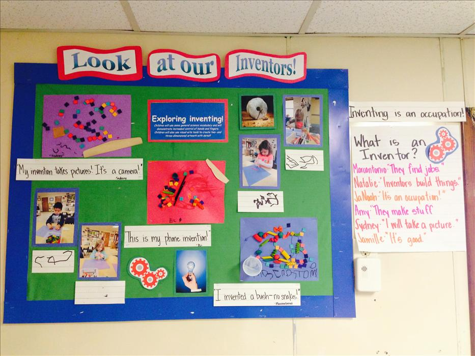 Evidence of Learning and what goes on in our classrooms are displayed throughout each classroom!