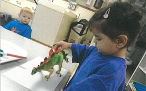 In our Discovery Preschool program, children have opportunities to engage in a variety of classroom activities that build fine-motor skills.