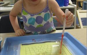 Preschool Counting Water Droplets