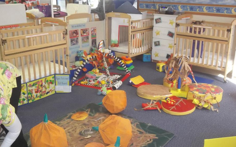 Spectacular teacher-made toys engage little eyes and hands in our Infant room.