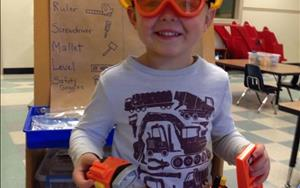 "Preschoolers were exposed to different tools during our ""Tools and Machines"" theme!"