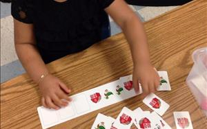 Our preschoolers are learning about patterns!