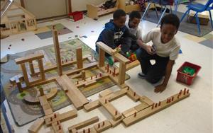 Our school agers were hard at work building their own kingdom.