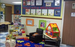 Our lobby is perfectly scaled down to make our children feel comfortable.