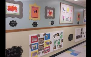 Parents can see their child's learning displayed in our hall wall each day.