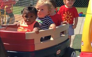Our Toddlers enjoying the wagon ride!