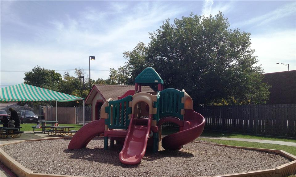 Our Preschool and Pre-Kindergarten playground has many options for children, whether they choose to climb the playscape, ride bikes around the path, or sit in the shade and read a story.